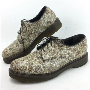 Dr Martens Paisley Shoes Unisex Men 9 Women 10
